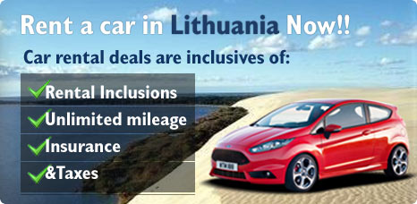 Rent a car in Lithuania